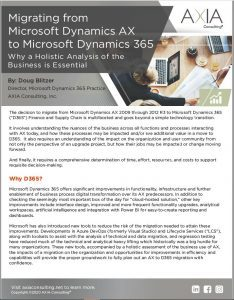 Migrating from Microsoft Dynamics AX to D365