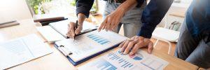 analyzing and explaining data on paper